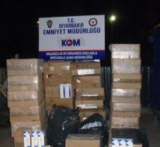 Diyarbakır'da kaçakçılık operasyonlarında binlerce malzemeye el kondu